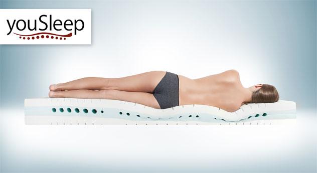Kaltschaummatratze youSleep 600 mit innovativem Schlafsystem