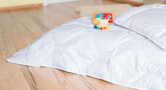 Waschbare Kinder-Bettdecke & Kissen Lina Sommer mit Steppung