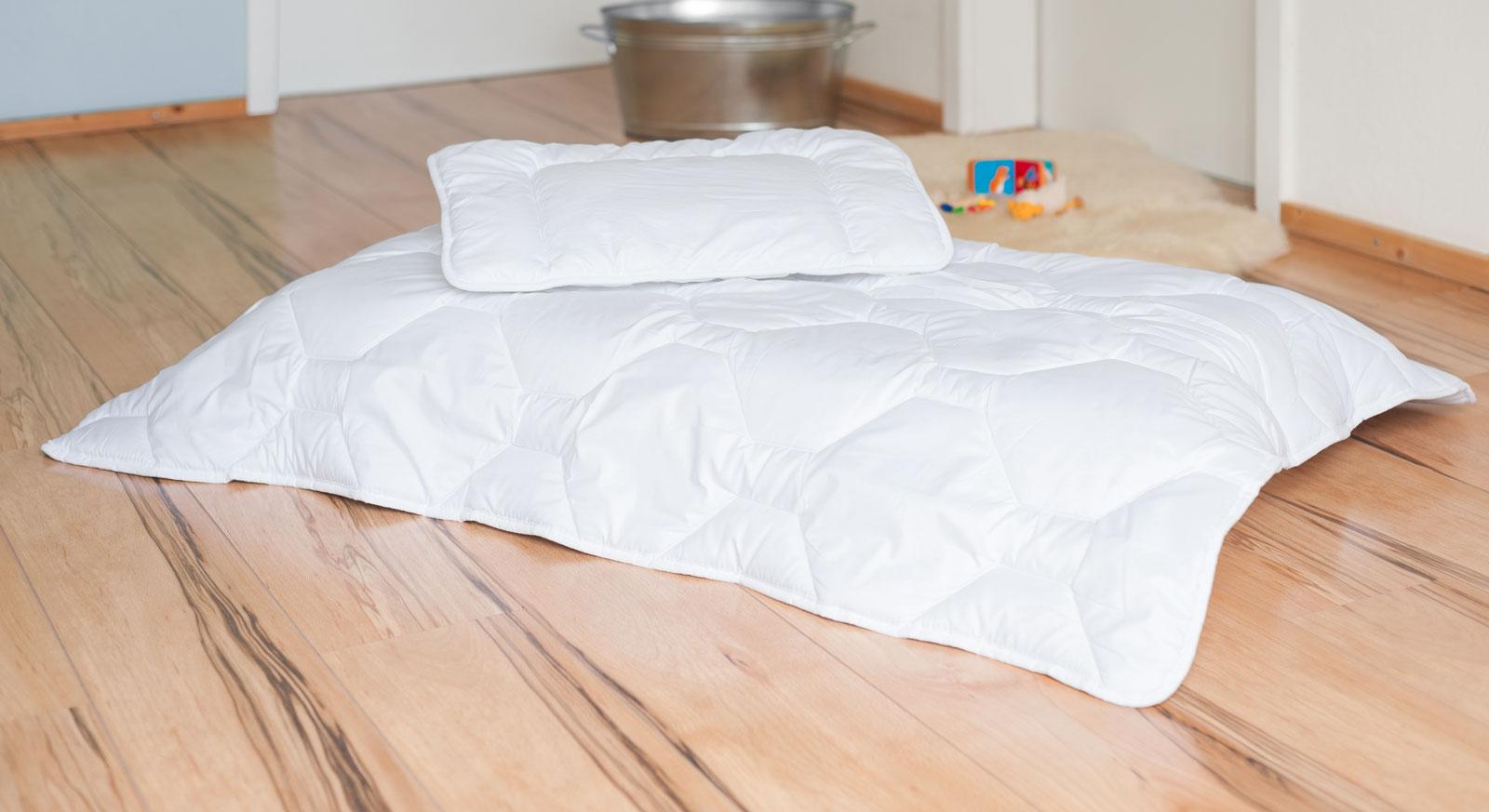 Warme Kinderbettdecke Und 40x60 Cm Großes Kissen Linus Winter