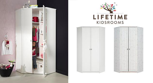 Weißer Kinder-Kleiderschrank von Lifetime in weiß