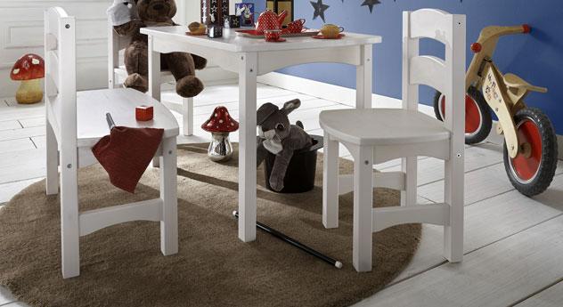 Kindersitzgruppe Kids Paradise aus weiß lasierter Kiefer