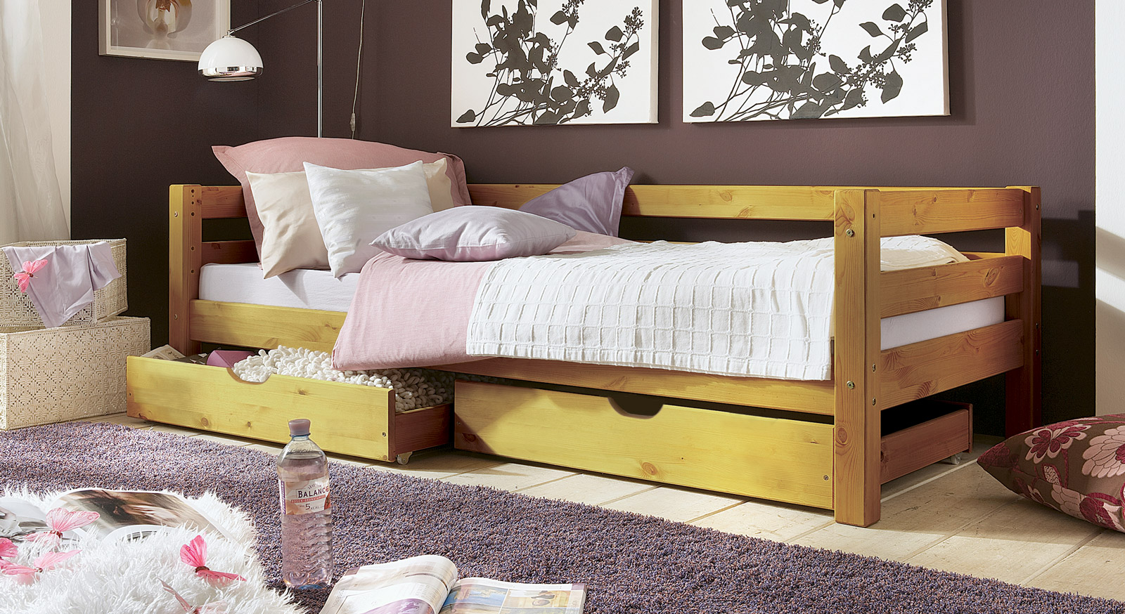kinderbett in wei aus kiefer t v gepr ft kids paradise basic. Black Bedroom Furniture Sets. Home Design Ideas