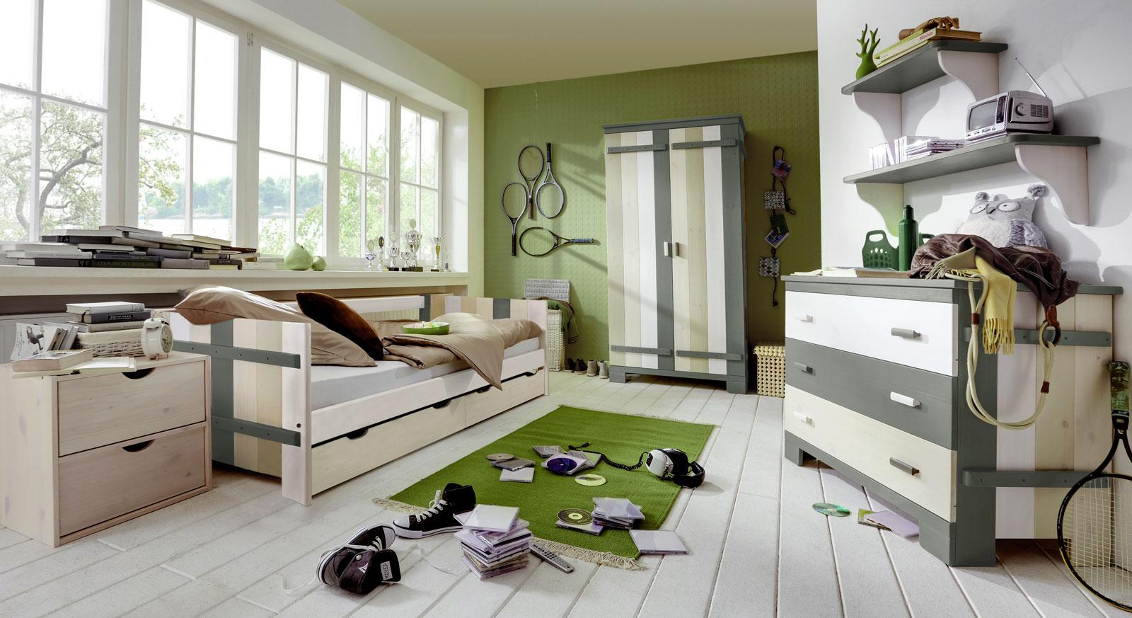 Kinderbett Laubhütte mit optionalem Zubehör