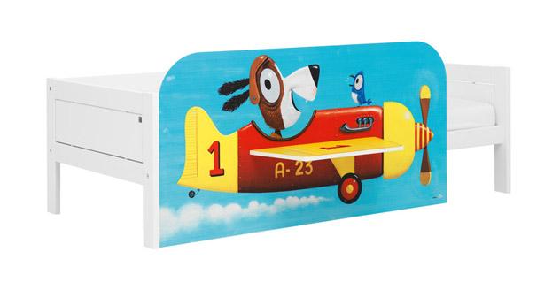 Hochwertiges Kinderbett von Lifetime mit lackierter mdf platte mit flugzeug