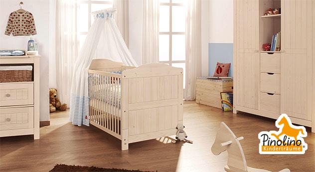 Kinderbett Nora cremeweiß lasiert