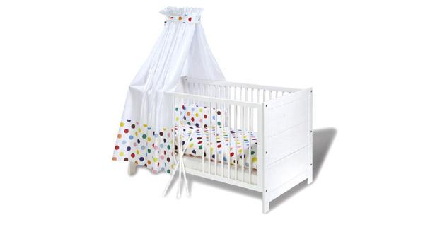 Kinderbett Emma Gitterbett mit herausnehmbaren Schlupfsprossen