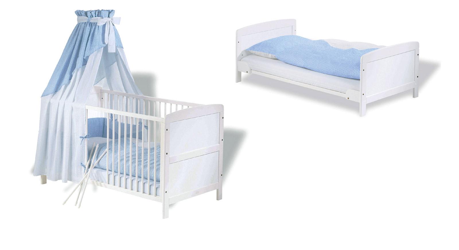 wei lackiertes kinderbett aus teilmassiver kiefer viktoria. Black Bedroom Furniture Sets. Home Design Ideas
