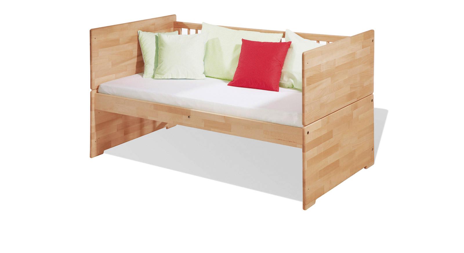 Kinderbett Laurenz umgebaut zur Bettbank