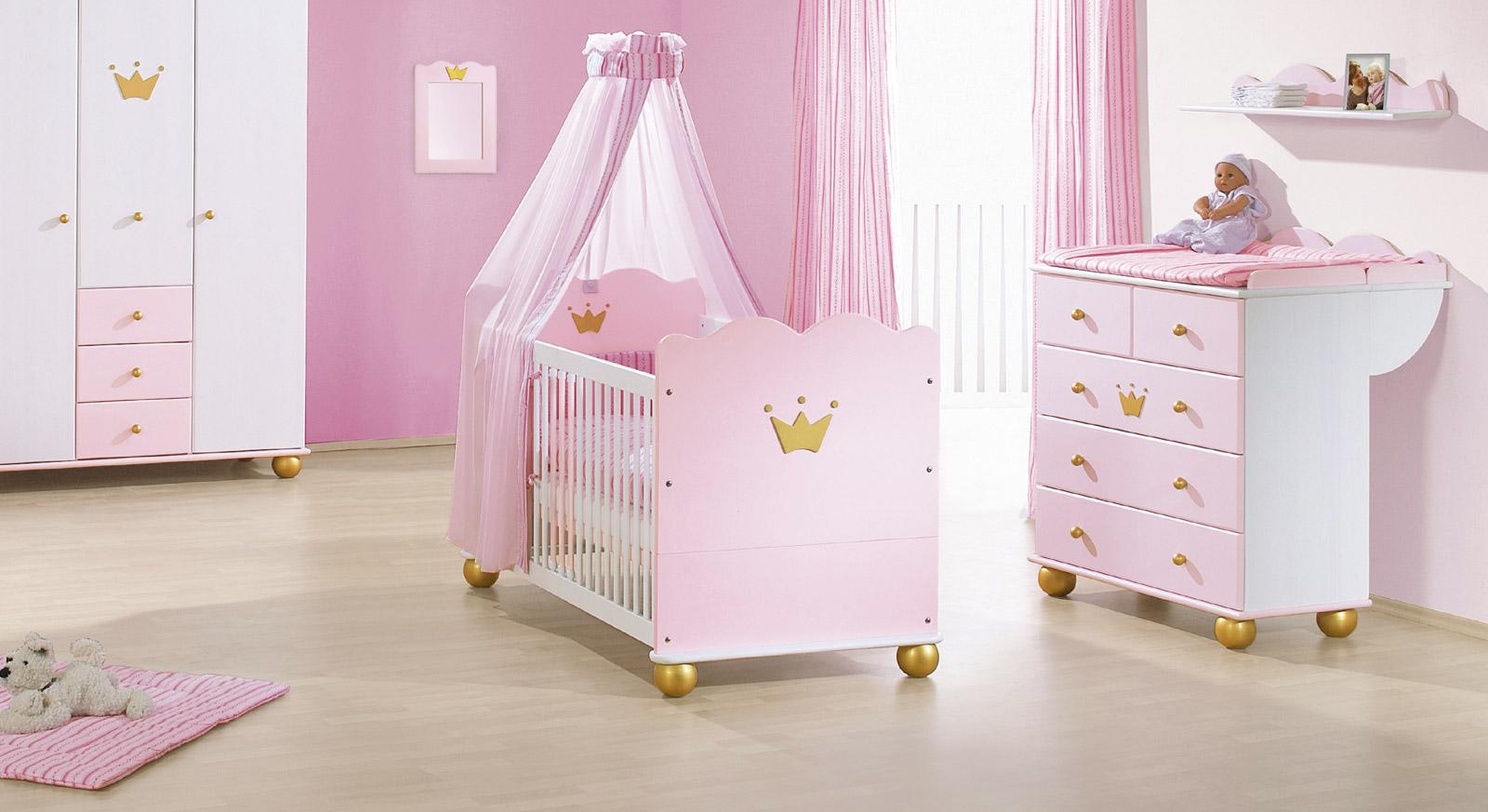 Rosa Kinderbett Pauline im Prinzessinen Look