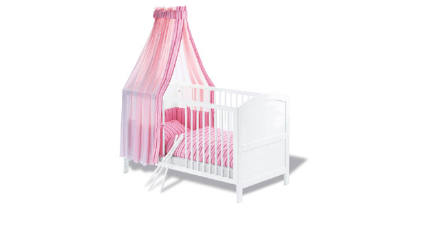 Kinderbett Svea Gitterbett mit herausnehmbaren Schlupfsprossen