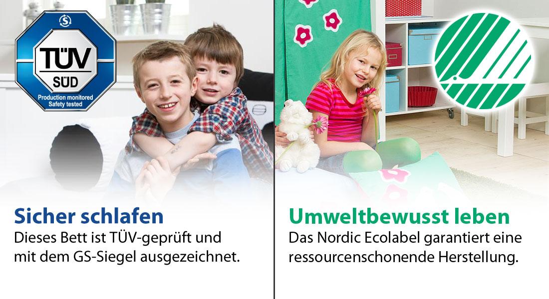 Kindermöbel mit GS-Siegel und Ecolabel
