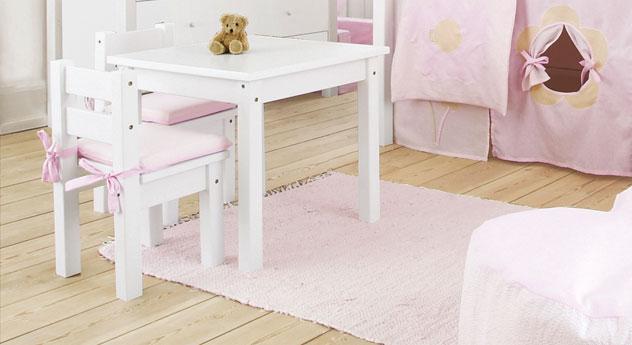 kindersitzgruppe in wei aus kiefer massivholz kids heaven. Black Bedroom Furniture Sets. Home Design Ideas