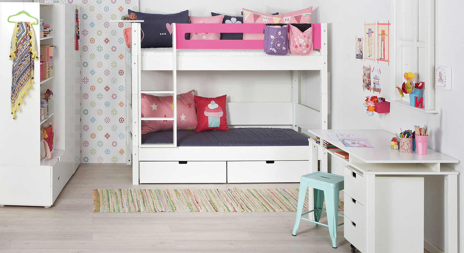 kinderzimmer f r geschwister kids town sisters brothers. Black Bedroom Furniture Sets. Home Design Ideas