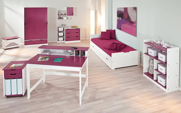 Kinderzimmer Mina in Magenta mit allen passenden Produkten