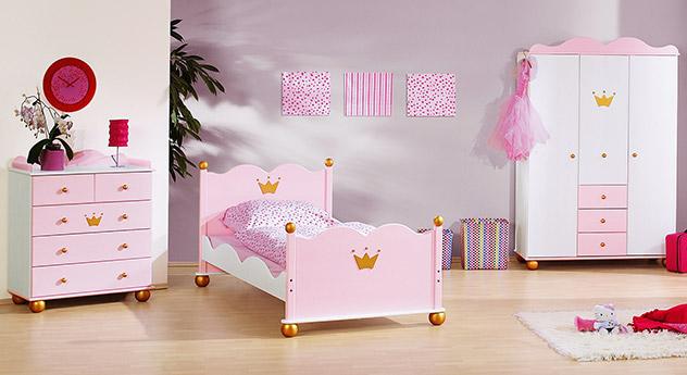 Passende Produkte zu Kinderzimmer Prinzessin Karolin in rosa mit Krone
