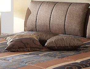 stoff polsterbett in 100x200 cm mit matratze el coco. Black Bedroom Furniture Sets. Home Design Ideas