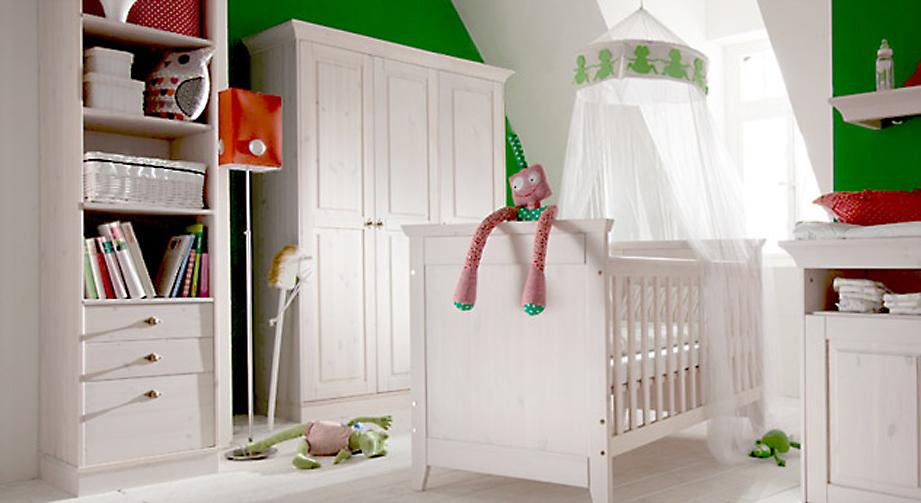Kleiderschrank Babys Paradise aus Holz in Weiß 3türig