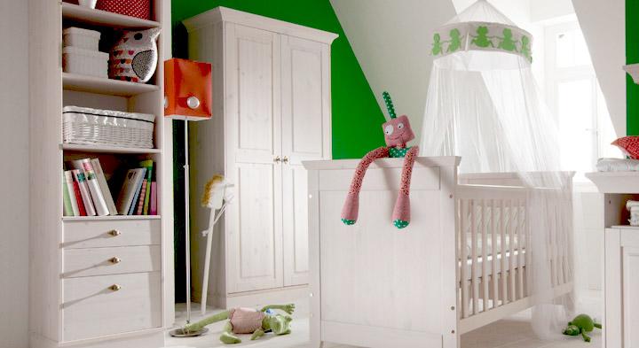 Kleiderschrank Babys Paradise aus Holz in Weiß