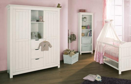 kinderzimmer kleiderschrank aus wei er fichte nina. Black Bedroom Furniture Sets. Home Design Ideas