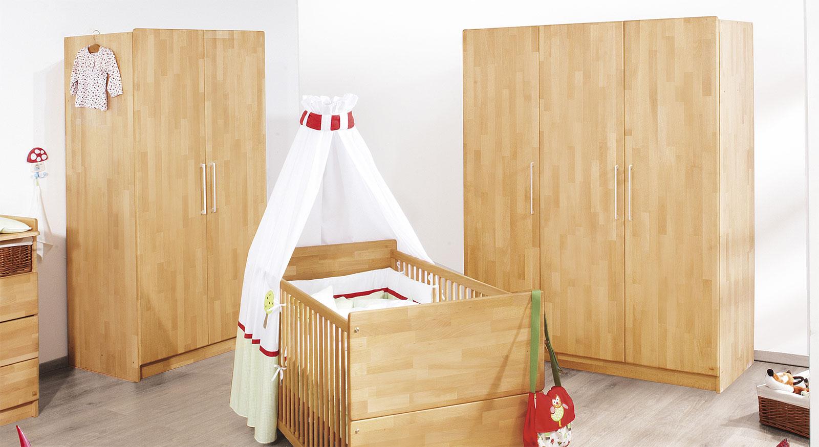 Kinder-Kleiderschrank wahlweise mit 2 oder 3 Türen - Natura | {Kinderzimmer buche 90}