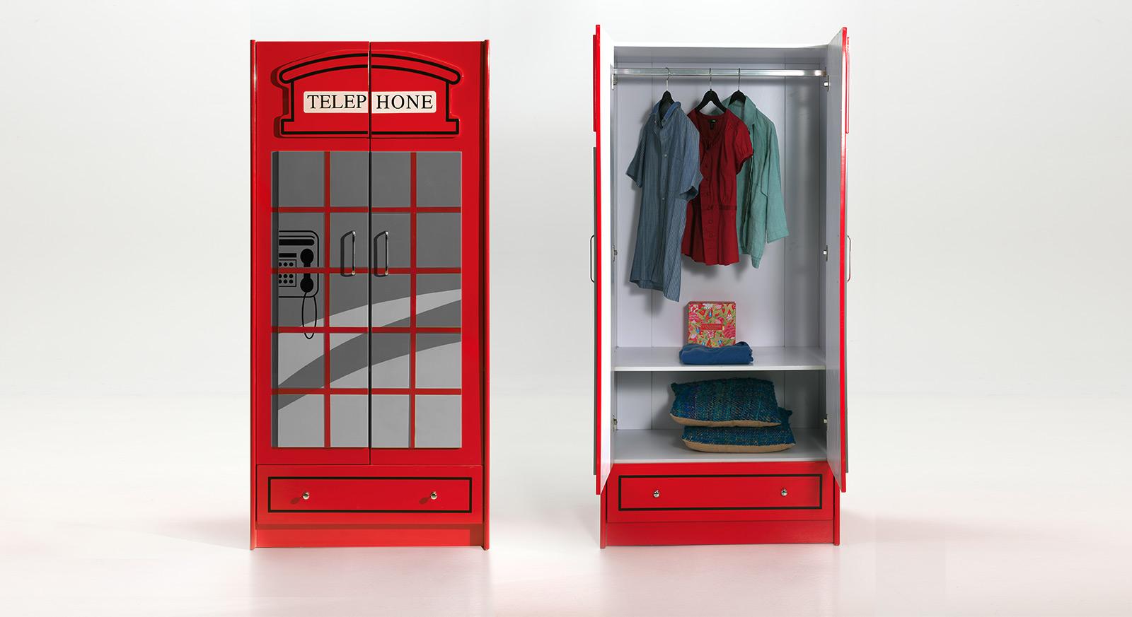 Kleiderschrank Paddington mit Schublade und Kleiderstange