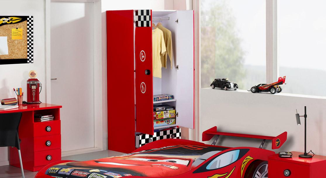Kleiderschrank Tuning inklusive Kleiderstange und Einlegeboden