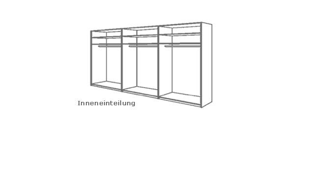 Kleiderschrank Almada Inneneinteilung Skizze