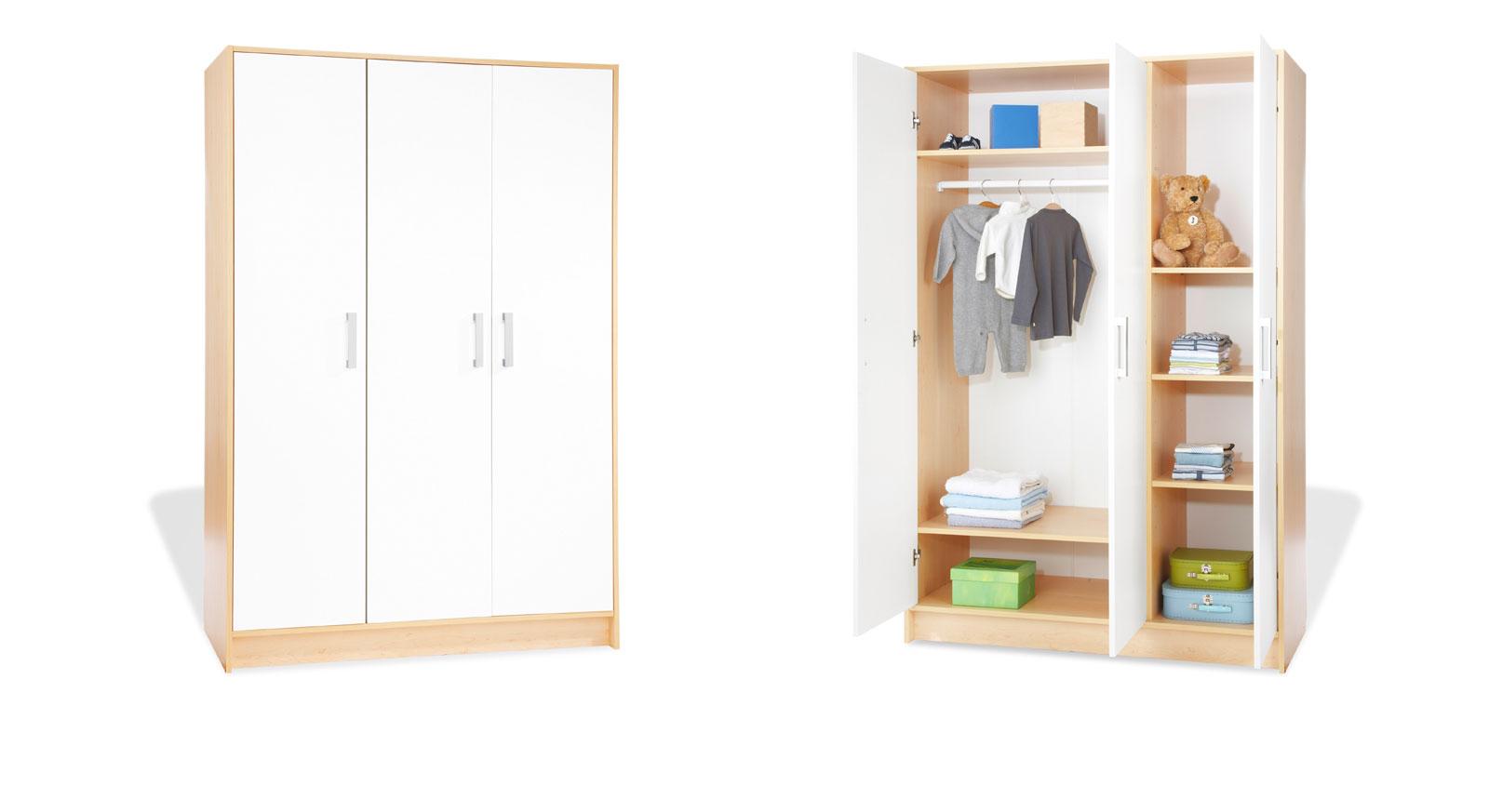 kleiderschrank f r ihr kinderzimmer aus ahorn florian. Black Bedroom Furniture Sets. Home Design Ideas