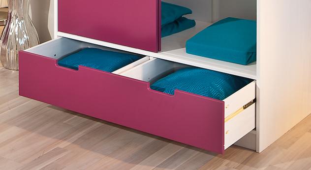 Kleiderschrank Mina eine Schublade mit zwei Fächern