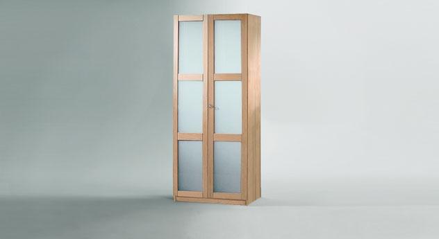 Drehtüren Kleiderschrank Mira 2 türig Glas Front