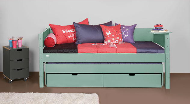 Kojenbett Kids-Town aus MDF in Mint