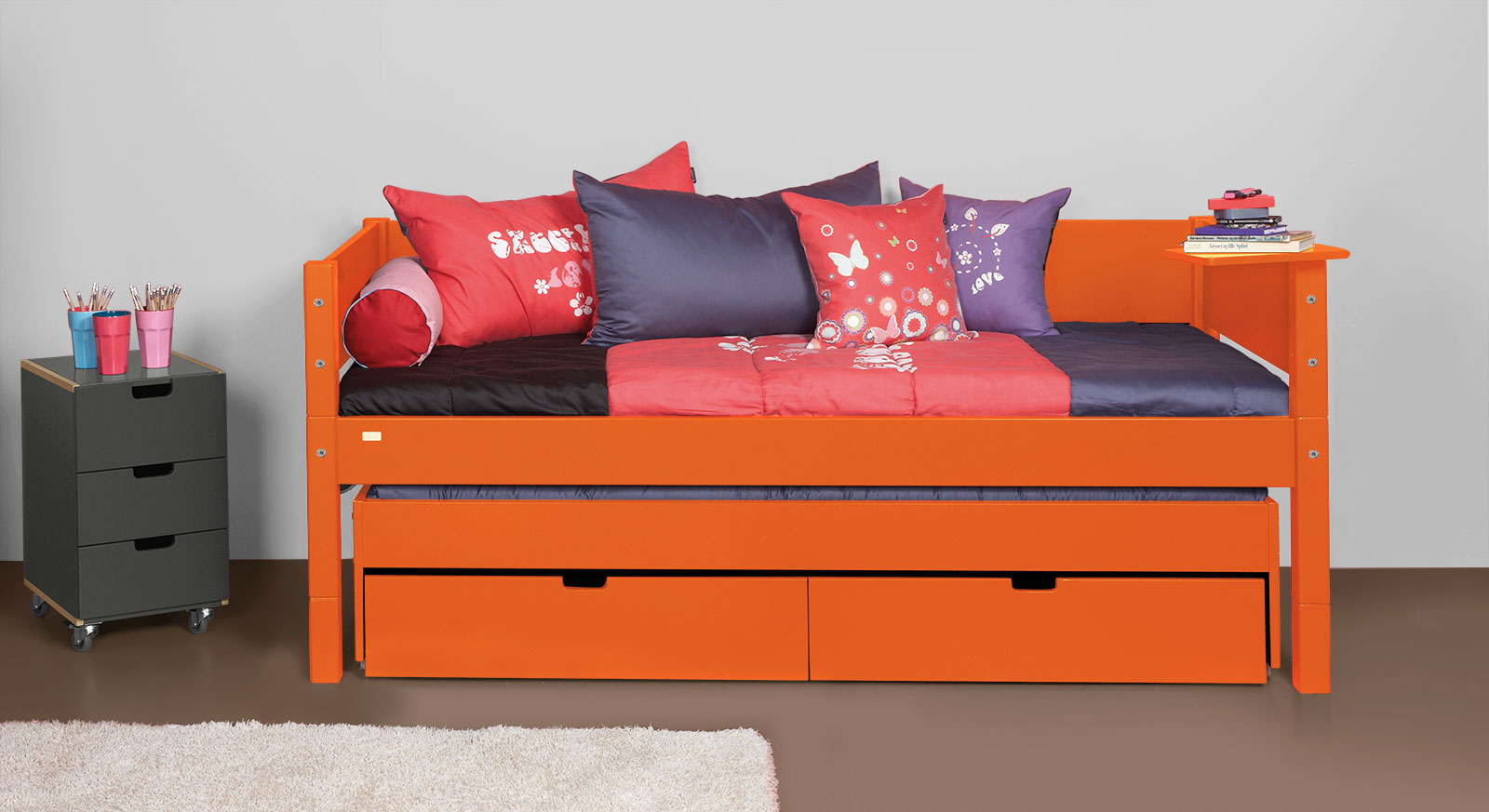Kojenbett Kids-Town aus MDF in Orange