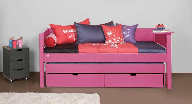 Kojenbett Kids-Town aus MDF in Pink