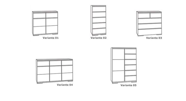 Kommode Andalucia verschiedener Aufbau