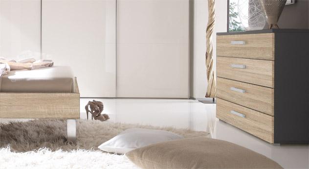 breite kommode mit vier schubladen online kaufen antia. Black Bedroom Furniture Sets. Home Design Ideas