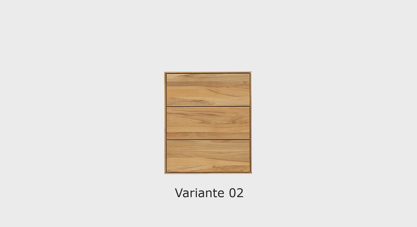 Massivholz-Kommode Aquila in der Variante 02