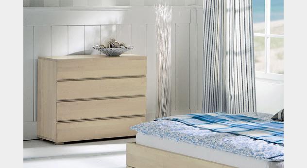schubladen kommode aus buche z b in wei kaufen como. Black Bedroom Furniture Sets. Home Design Ideas