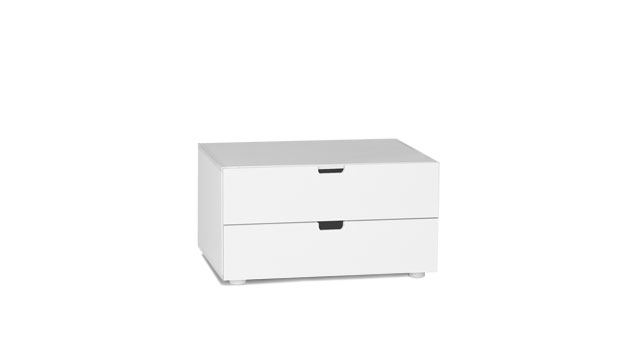 Kommode Kids Town mit zwei Schubladen in Weiß