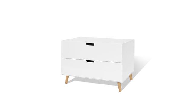 Kommode Kids Town Retro mit 2 Schubladen in Weiß