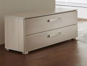 massivholzbett mit wandpaneel als hohes kopfteil bianco deluxe. Black Bedroom Furniture Sets. Home Design Ideas