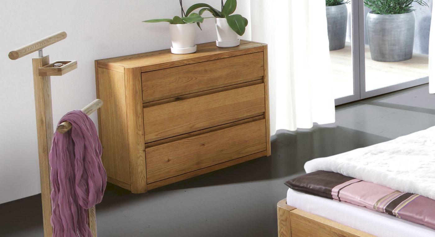 Kommode schlafzimmer eiche  Massivholz Kommode aus hochwertiger Eiche - Lugo | BETTEN.de