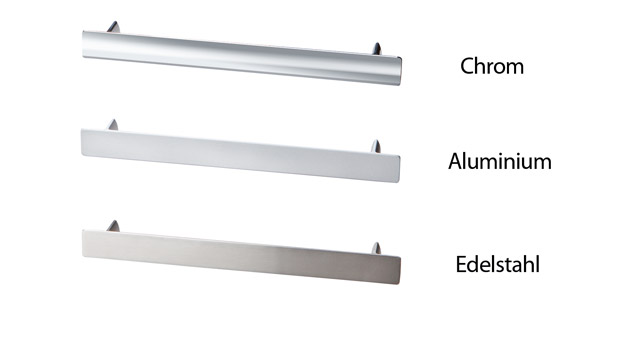 Übersicht der Kommodengriffe aus Chrom, Aluminium und Edelstahl