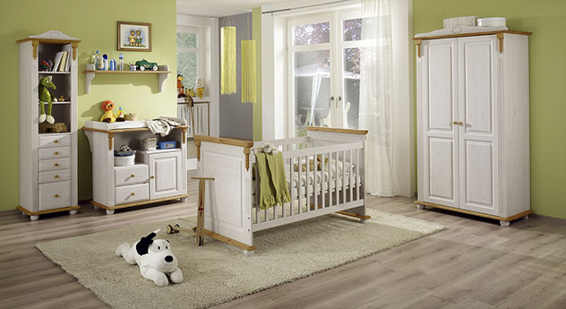 babyzimmer im landhausstil aus massiver kiefer countryside. Black Bedroom Furniture Sets. Home Design Ideas