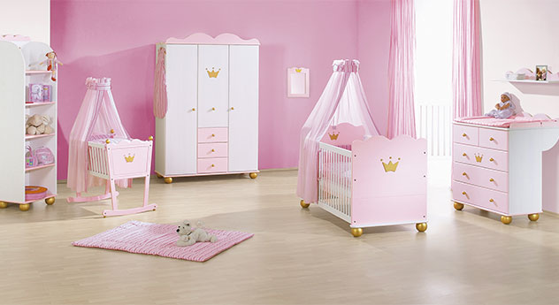rosa prinzessinen babyzimmer prinzessin karolin online. Black Bedroom Furniture Sets. Home Design Ideas