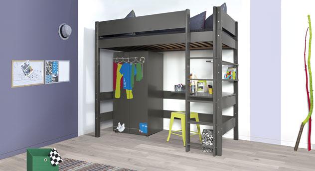 platzsparende einrichtung f rs kinderzimmer kids town fun. Black Bedroom Furniture Sets. Home Design Ideas