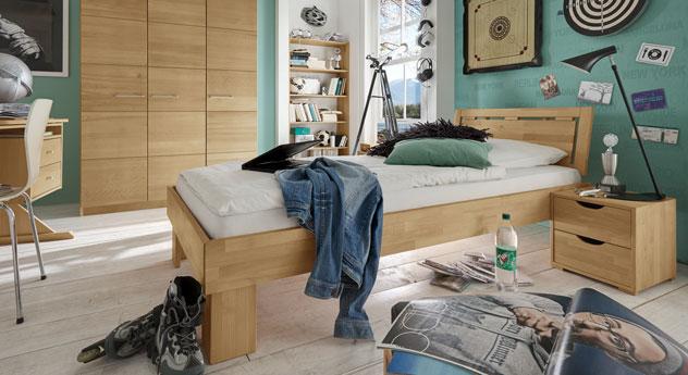Komplett-Schlafzimmer Birmingham aus massiver Buche