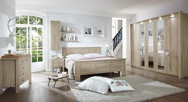 Komplett-Schlafzimmer Farim in Eiche-sägerau Dekor