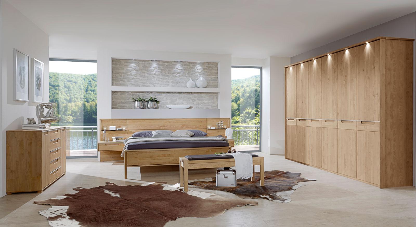 Komplett-Schlafzimmer Fria aus massiver Erle