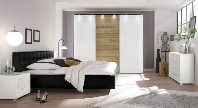 Modernes und hochwertiges Komplett-Schlafzimmer Gordon