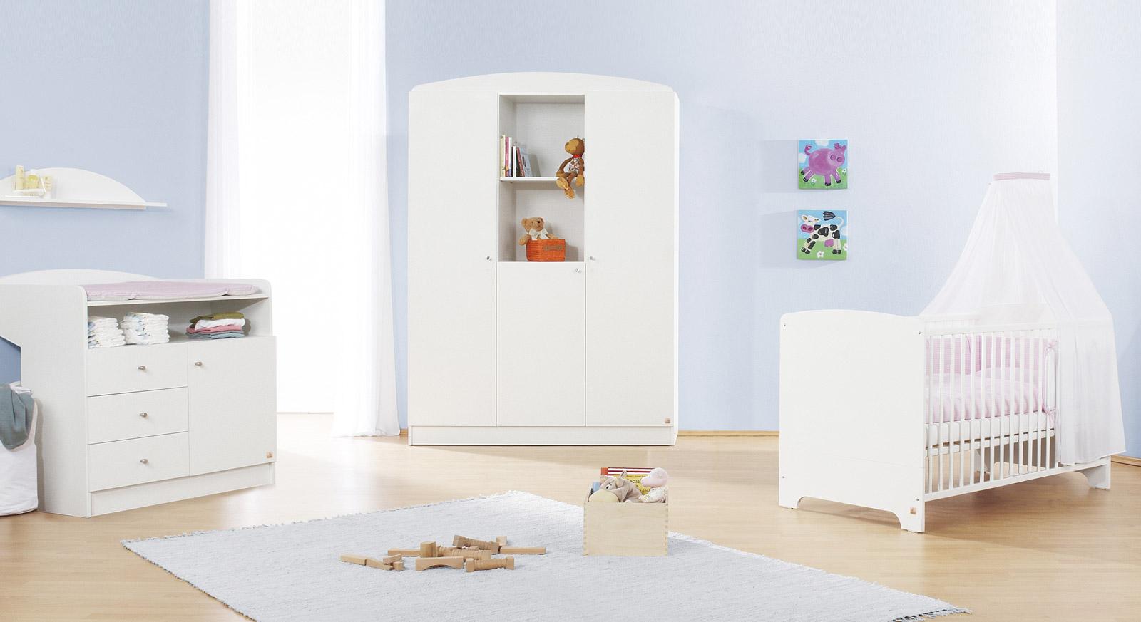 Komplett-Schlafzimmer Lucy in Weiss